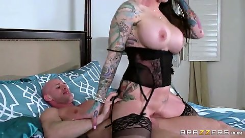 Intimate milf in her awesome lingerie rides cock in reverse cowgirl Darling Danika