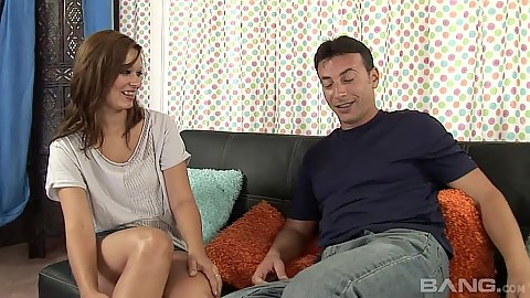 Fully clothed Crissy Moon lets man look up her skirt and see hairy vagina