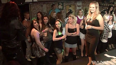Kinky college amateur party with male strippers arriving