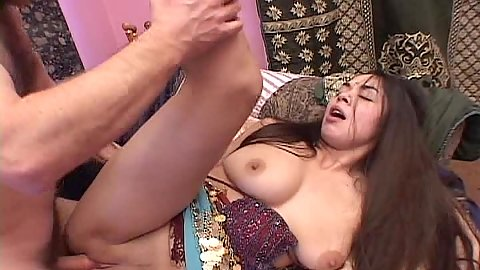 Sideways pussy plowing of busty Indian ethnic girl Yahira
