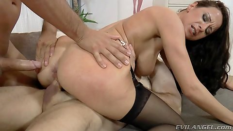 Captivating stockings milf Martina Gold double penetration screwed