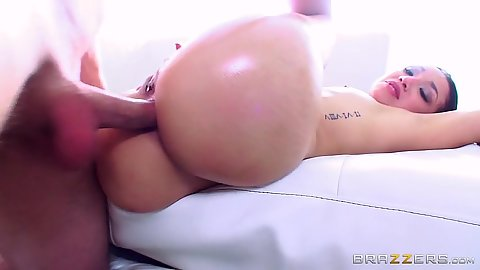 Latina anal intercourse with naughty Vicki Chase