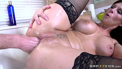Ass fingering and almost fisting luscious maid with big butt Syren De Mer