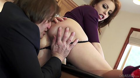 Boss and wife get down to fucking Britney Amber