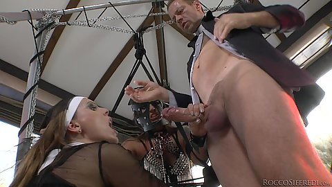 Smutty threesome with some enslavement Simony Diamond and Tiffany Shine