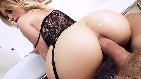 Frisky lingerie anal action with Bibi Noel