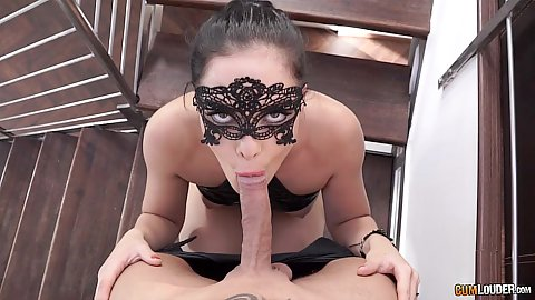 Dolly Diore face mask blowjob outdoors and sex