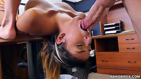 Hairy young 18 year old latina maid Sophia Leone gets laid to pay the bills