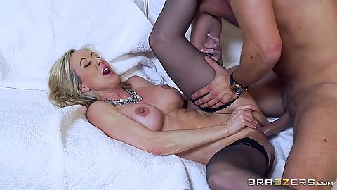 Beautiful milf slammed on couch from front Brandi Love