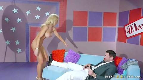 New tv game show wheel of fucking with footjob giving Alix Lynx