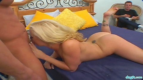 Cuckold milf oral and sex with playful Adrianna Nicole