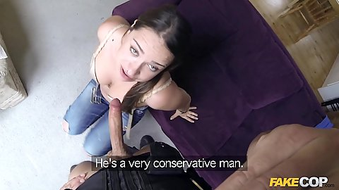 Police officer offers a fuck for sex craved housewife Olga