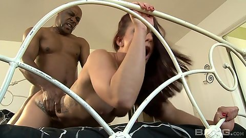 Incredible doggy style fuck with Mischa Brooks in her first black penis