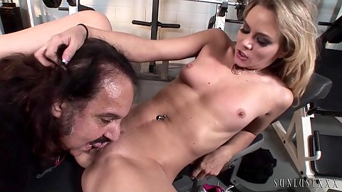Gym sex with ron jeremy and workout  girl Sophia Lynn