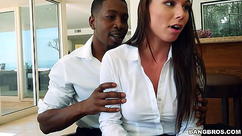 Turned on little college student Aidra Fox is anxious to see the size of his cock