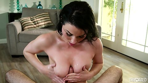 Titty fuck and deep throat face fuck from impulsive Veruca James in pov