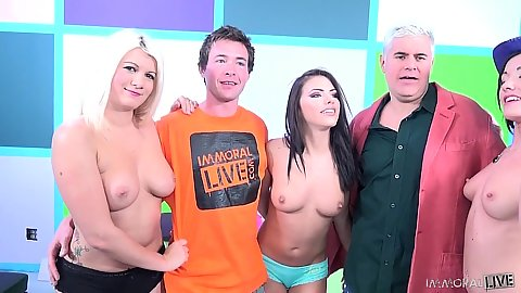 Group orgy with Laela Pryce and Adriana Chechik and Jennifer White