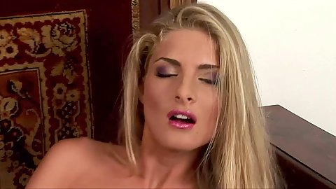 Blonde babe Cayenne Klein is tight and ready for dp