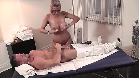 Dirty massage with oil and horny German milf goddess Lana Vegas