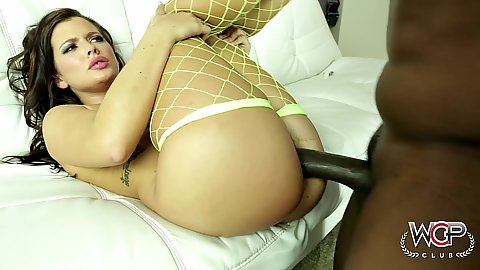 Raised legs fishnet ass big black cock pounding Keisha Grey