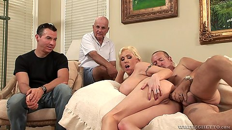 Cuckold with other man also watching for dirty lifestyle milf Casey Grant