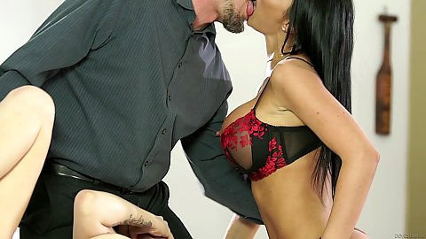 Kissing and stripping for swingers party with Maxim Law and Jasmine Jae and s1