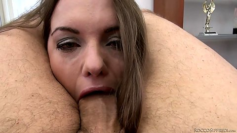 Dominica Phoenix deep throated while held in place
