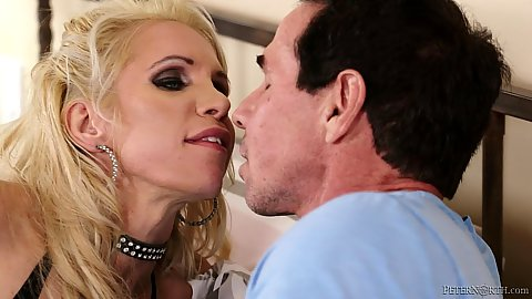 Kissing and making out with Nadia North in for a gang bang