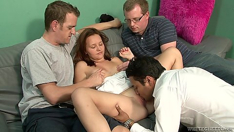 Eating pussy with cuckold gang bang milf Kristy Shannon