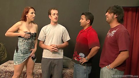 Redhead Nicki Hunter comes into mom gang bang