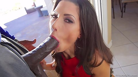 Sucking a huge black cock Alexa Tomas