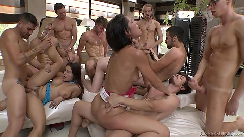 Everyone is invited to this bootcamp fuck fest orgy Samantha Bentley and Valentina Nappi and Samia Duarte