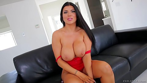 Committed anal fiend Romi Rain pulls out her toy