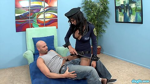Cop uniform sexy outfit Lacey Cruz