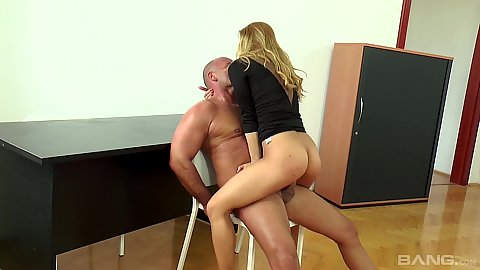Chair humping fuck with on panties lawyer whore Nikky Thorne