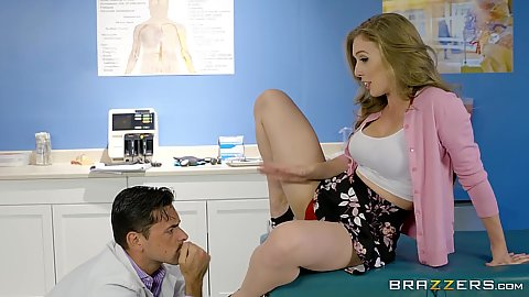 Doctor visit with fingering and pussy entering Lena Paul