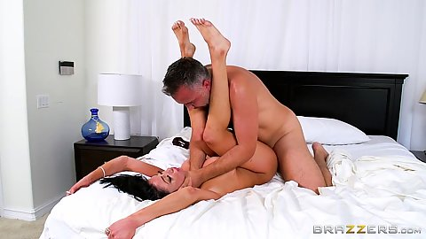 Raised legs obsessed and cum craving wife Audrey Bitoni gets cared for