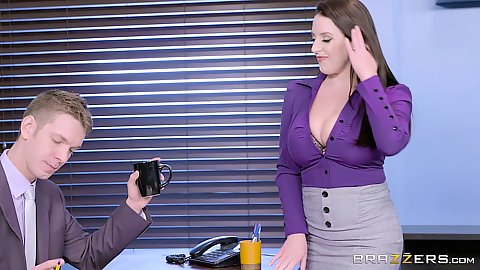 Angela White office miniskirt co worker secution