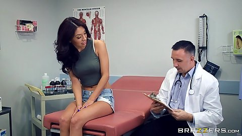 Doctor visit with Kara Faux getting medical massage