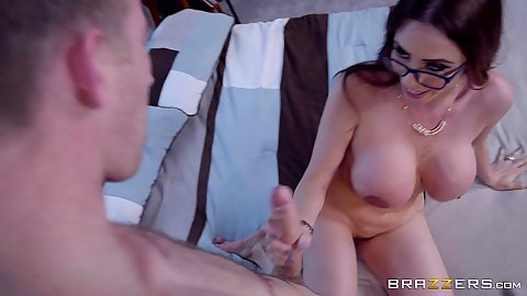 Bedroom dick holding in hand with stepmom handjob Ariella Ferrera and Missy Martinez