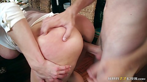 Thanksgiving milf banging on dinner table with cougar whore Kendra Lust