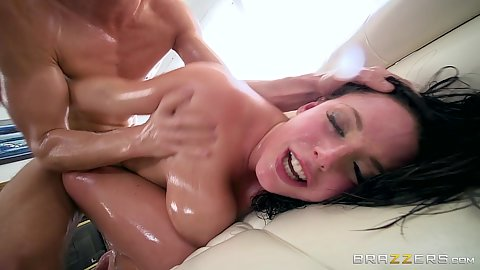 Rough sex natural boobs anal lover Angela White gets tapped