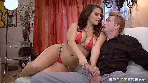 huge tits riding cock pov