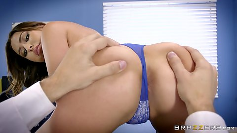 Ass checking out with gloves with doctor and patient Melissa Moore