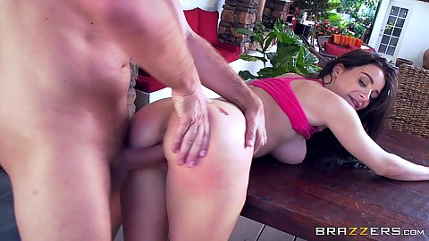 Bent over for a relaxing plowing Lana Rhoades