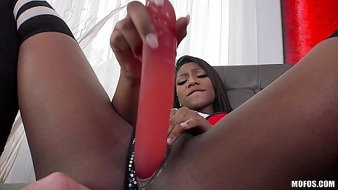Nice sex toy play from bony Lexi Rose