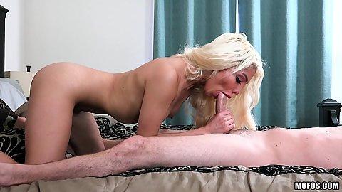 Cock blowing very small boobed latina Elizabeth Jolie