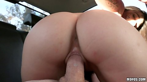 Big ass college whore getting a free ride on dick in backseat Karlee Grey