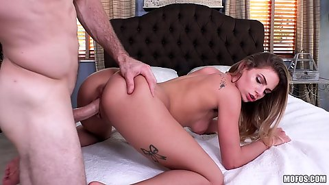Pussy sex with bent over lovely spinner Sydney Cole