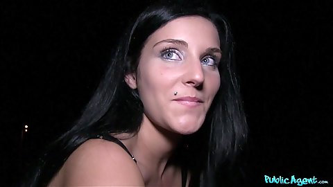 Nasty blue eyed cock sucking slut Lucia Denvile sucks dick in pov